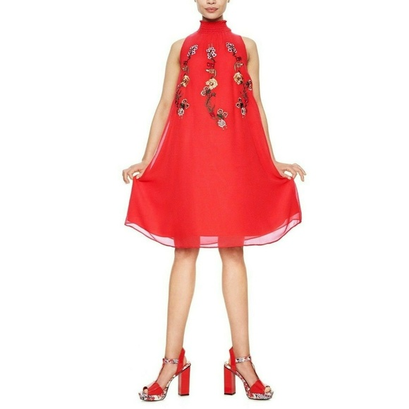 Desigual Dresses & Skirts - 9931 Desigual Angy Floral Embroidered Mini Dress S